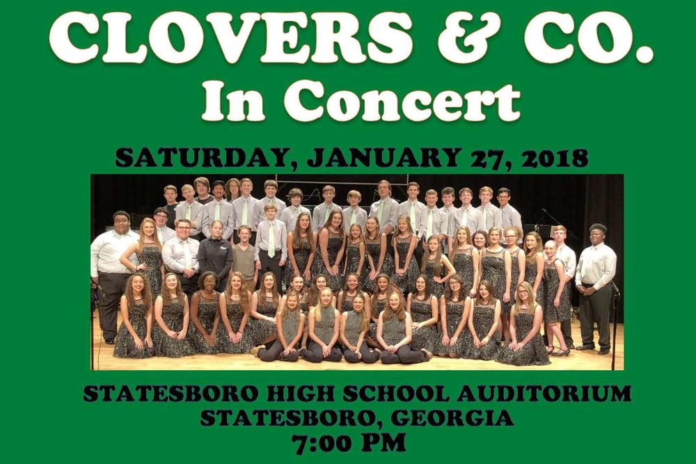 Clovers and Company Concert Flyer